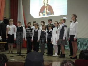 7 декабря 2013 года - первый концерт, посвященный Престольному празднику храма вмц.Екатерины. На сцене - наши воспитанники.