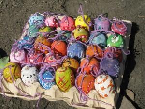 Школьники приготовили пасхальные яички для украшения Пасхального дерева. Пасха 2014 г.